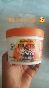 Garnier Fructis Hair Food Papaya - Intensive hair mask - Spanish