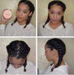 Protective styling curly hair