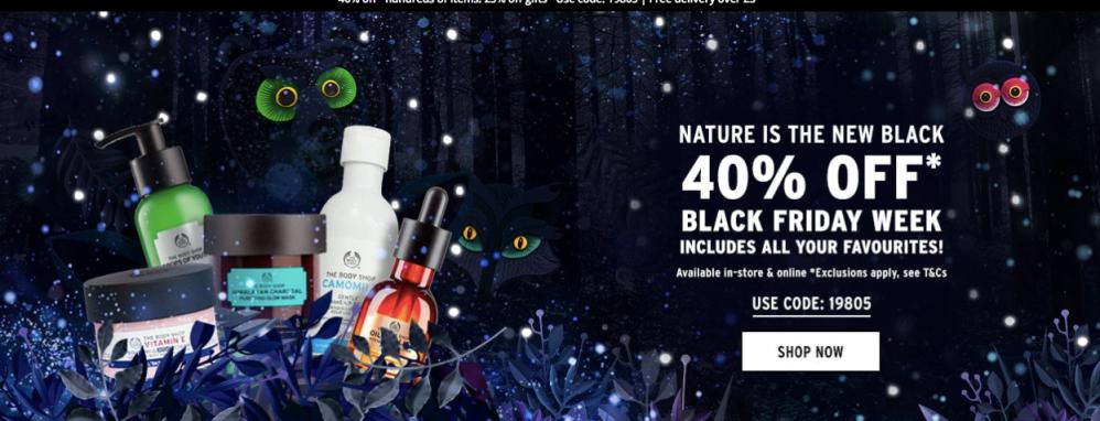 The Body Shop Black Friday Sale