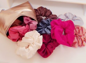 Satin Scrunchies for Curly hair